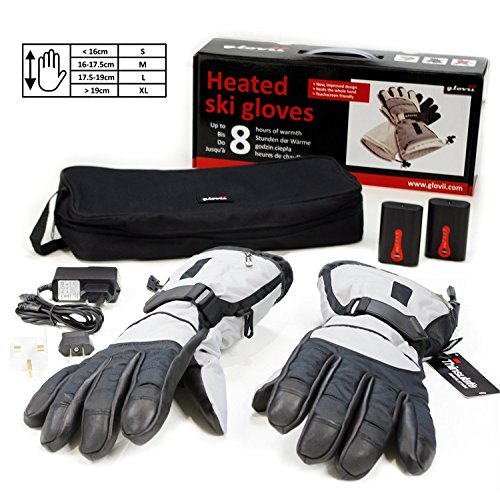 Battery Heated Ski Universal Gloves, Up To 8 Hours Of Warmth At One Recharge - Glovii