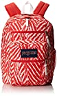 JanSport Big Student Backpack - Coral Peaches Wild At Heart / 17.5H x 13W x 10D