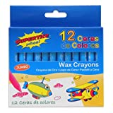 Supertite 12 jumbo size wax crayons set of 12 assorted colours