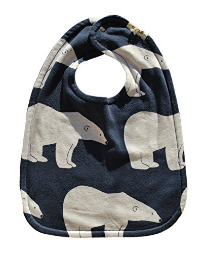 Zebi Organic Bib (Navy Polar Bear) Picture
