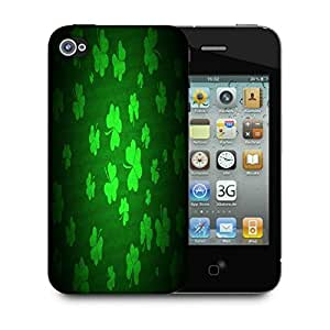 Snoogg Clovers Holiday Designer Protective Phone Back Case Cover For Apple Iphone 4