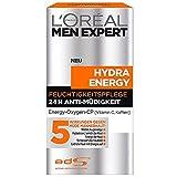 L'Oréal Men Expert Hydra Energy 24h Feuchtigkeitspflege Anti Müdigkeit, 1er Pack (1 x 50 ml)
