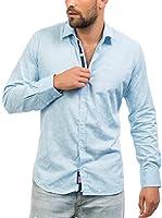 Signore Dei Mari Camisa Hombre Gabe (Azul Claro)