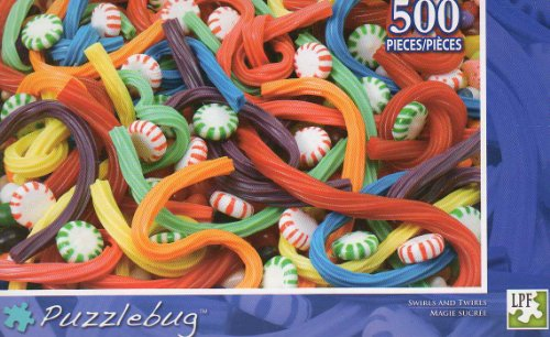Swirls and Twirls - Puzzlebug - 500 Pc Jigsaw Puzzle - NEW