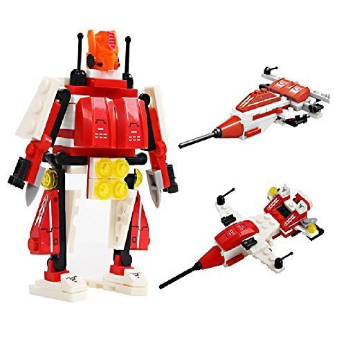 Transform Warrior 3D Robot Transformers (3 Types) Building Block Set 04 Eagle Eyes - 97 Pieces
