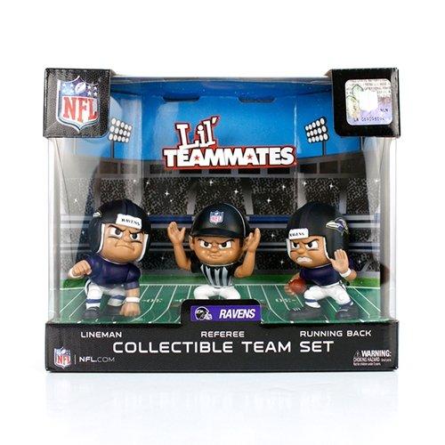 Lil' Teammates 3 Figurine Baltimore Ravens NFL Team Set (Pack of 3)