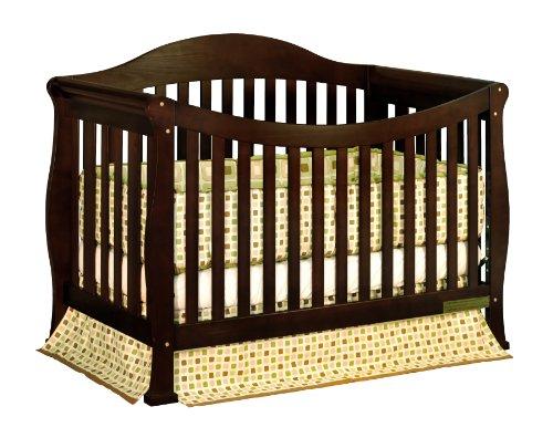 Athena Allie 3 in 1 Crib with Toddler Rail Espresso - John ...