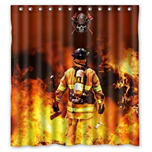 Http Amazon Com Firefighter Waterproof Bathroom Shower Curtain Dp B00n2le61s