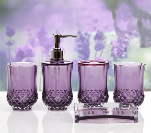 How to incorporate purple bathroom accessories for Purple bathroom accessories