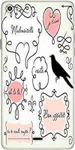 Snoogg Doodle Frames Designer Protective Back Case Cover For Micromax Canvas Silver 5 Q450