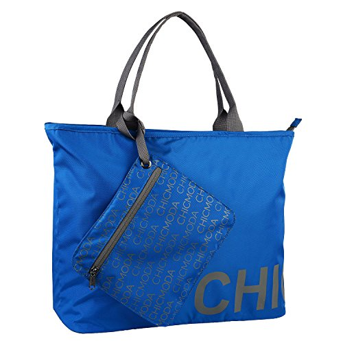 chicmoda-fashion-tote-bag-shoulder-bag-handbag-with-zipper-pouch-navy-blue