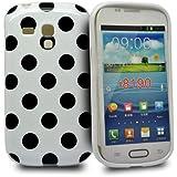 Accessory Master - Coque en gel silicone pour Samsung galaxy S3 mini i8190 Blanc / Noir Polka Dott