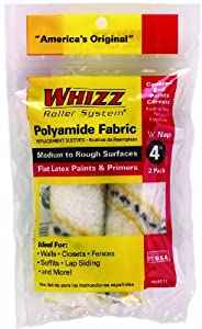 Work Tools International 54011 4-Inch Whizz Premium Paint Roller Cover, Gold Stripe, 2-Pack