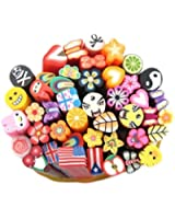 44x Breloques Coloré Beauté FIMO Pâte Polymère Nail Art Bâtons Kits De Loisirs Créatifs Décoration