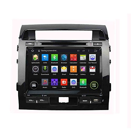 9 Inch Android 5.1.1.Car DVD GPS Navigation for TOYOTA LAND CRUISER 200 2008 2009 2010 2011 2012 with GPS+IPOD+BT+Radio+AUX IN+DVR +Bluetooth+WIFI +Free Backup Camera + USA Map