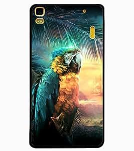 ColourCraft Beautiful Parrot Design Back Case Cover for LENOVO A7000