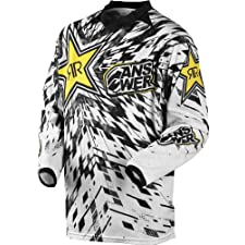 ANSWER ROCKSTAR VENTED MX MOTOCROSS JERSEY WHITE SM