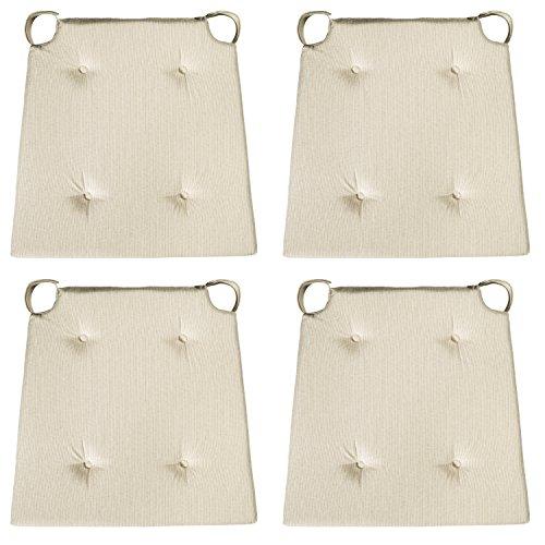 sleepling 190192 basic 10 bequemes stuhlkissen sitzkissen f r indoor und outdoor 4er set beige. Black Bedroom Furniture Sets. Home Design Ideas