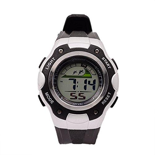 8Years - 1 Kinder Outdoor Armbanduhr Digitaluhr Stoppuhr Wasserdicht Schwarz