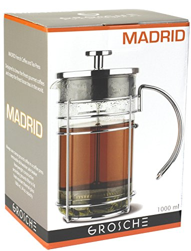 US GROSCHE Madrid French Press Coffee Maker, Tea Press & Coffee Press 8 cup 34 oz 1L with German ...