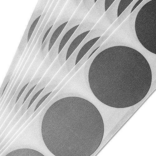 "Silver 1"" Circle Scratch-off Stickers, pack of 100"