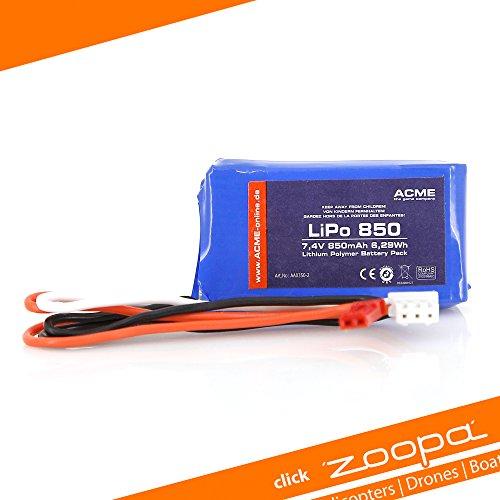 ACME-Akku-fr-zoopa-350zoopa-Q-650-Akku-74V-2S-850mAh-LiPo-Akku-AA0350-2