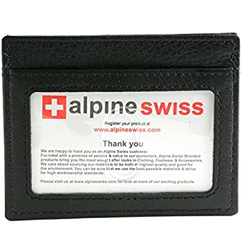 06. Alpine Swiss Rugged Pullup Leather Hand Crafted Men's Money Clip