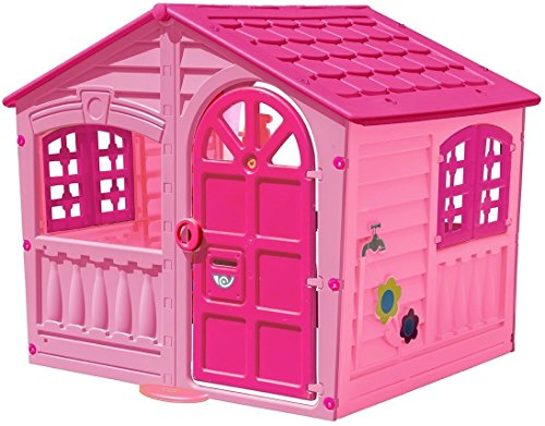 Kids-Outdoor-Playhouse-Children-Toddler-Yard-Indoor-Girls-Cottage-Home-Hut-Pink