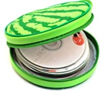 Cute Design Football, Watermelon, Baskeball, Tire and Hamburger Shape CD Storage Case Bag (Watermelon)