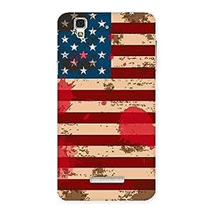 Ajay Enterprises Viber Cool Grunge USA Flag Back Case Cover for Yu Yureka