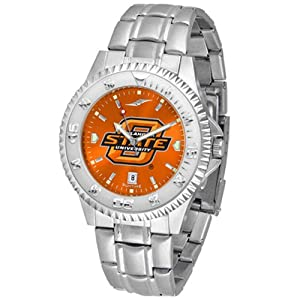 Oklahoma State Cowboys NCAA Anochrome Competitor Mens Watch (Steel Band) by SunTime