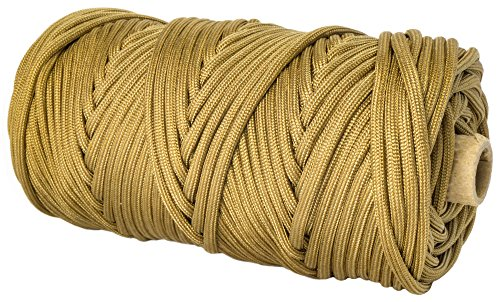 TOUGH-GRID 750lb Grizzly (Coyote) Brown Paracord / Parachute Cord - Genuine Mil Spec Type IV 750lb Paracord Used by the
