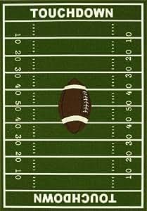 Amazon Com 8 X 10 Kids Sports Football Field Area Rug