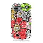 Eagle Cell PDZTEFURYS325 RingBling Brilliant Diamond Case for ZTE Fury/Director - Retail Packaging - Green/Red Flower