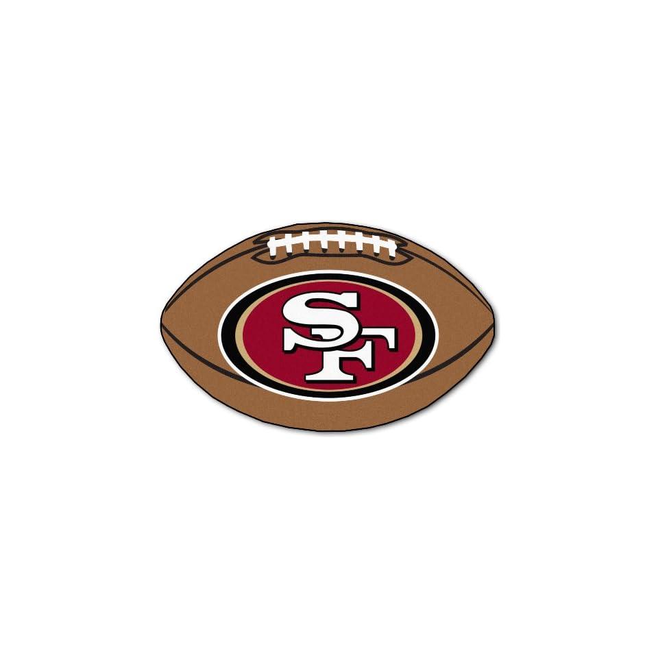 35 NFL San Francisco 49ers Chromo Jet Printed Football Shape Rug