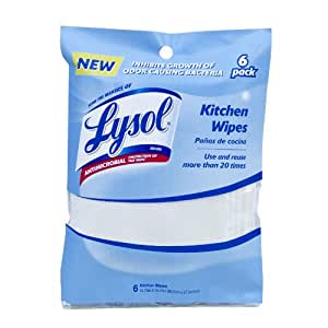 Lysol Reusable Antimicrobial Wipes, 6-Pack
