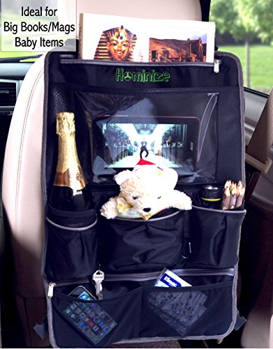 1-Car-Back-Seat-Organizer-with-17-Leather-Touch-Screen-Tablet-Holder--Heavy-Duty-Waterproof-Backseat-Protector-Kick-Mat-for-Kids-Babies--Perfect-Baby-Shower-Gift--10-Year-Warranty