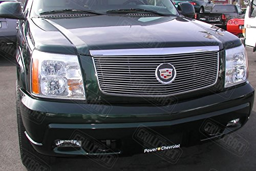 GrillCraft CAD1600-BAC BG Series Polished Aluminum Upper 1pc Billet Grill Grille Insert for Cadillac Escalade (Escalade Grill compare prices)