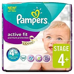 Pampers Activo Fit Pañales Tamaño 4+ Esencial Pack de 36 por paquete por Pampers en BebeHogar.com