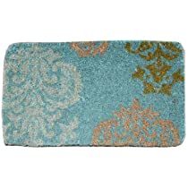 Doormat Gift Shop - Blue and Natural Decorative Heavy Duty Coir Doormat, Design 2 :  blue and natural decorative heavy duty coir doormat doormat decorative coir