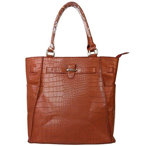 fash-faux-crocodile-textured-top-double-handle-structured-tote-handbagtaupeone-size