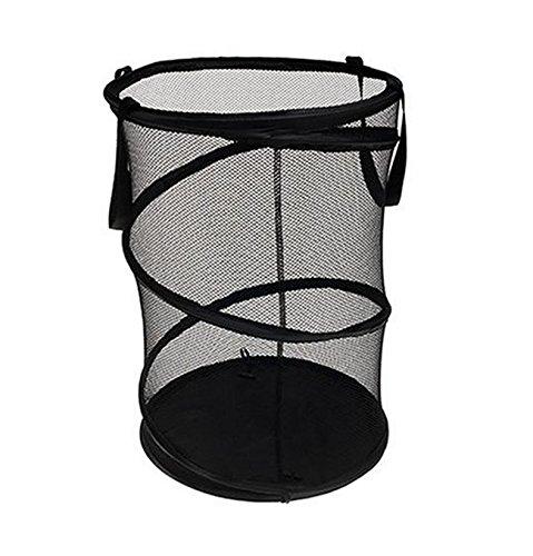Guurachi Pop-Up Mesh Hamper Laundry Hamper Laundry Storage Basket Hamper Storage Bag, Black (Tall Laundry Basket Black compare prices)