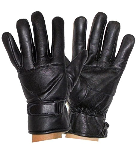 Leather Supreme Men's Thinsulate Winter Leather Driving Gloves W Wrist Strap