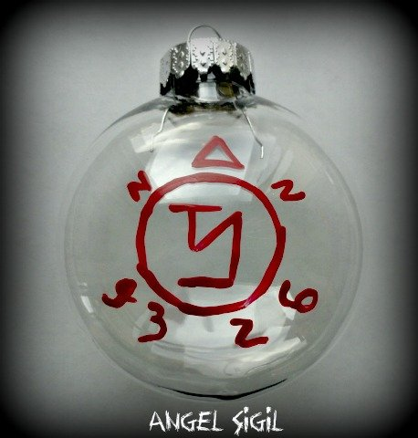 1 (One) Angel's Sigil Banishing Demons Monsters Symbols Pagan Adult Bloody Dead Death Killing CHRISTMAS ORNAMENTS - 1