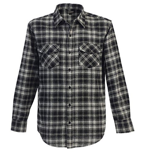 Gioberti Mens Long Sleeve Plaid Checked Flannel 5X