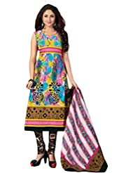 Sonal Trendz Multi Color Pure Cotton Dress Material.Casual Wear Pure Cotton Suit. - B018GEJ5Y8