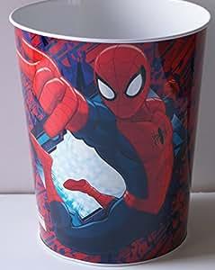 Marvel ultimate spider man waste basket tin for Bedroom garbage can