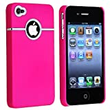 DELUXE PINK CASE COVER W/CHROME FOR iPhone 4 4G 4S NEW Verizon AT&T Sprint