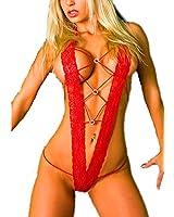 Samgu-Lingerie sous-vêtements des femmes sexy de fourche dentelle dos nu Stripper SG Ouvert