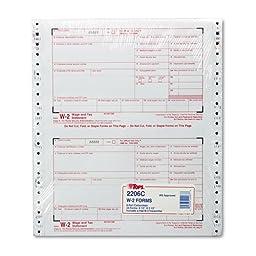 W-2 Tax Form, 6 Part, 8-1/2\